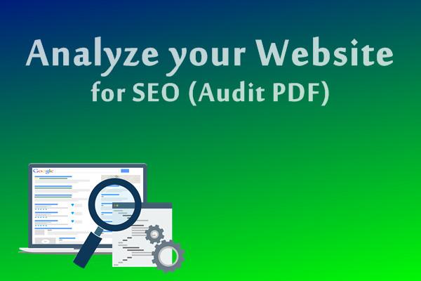 Website Audit - Seo Report 21 pages
