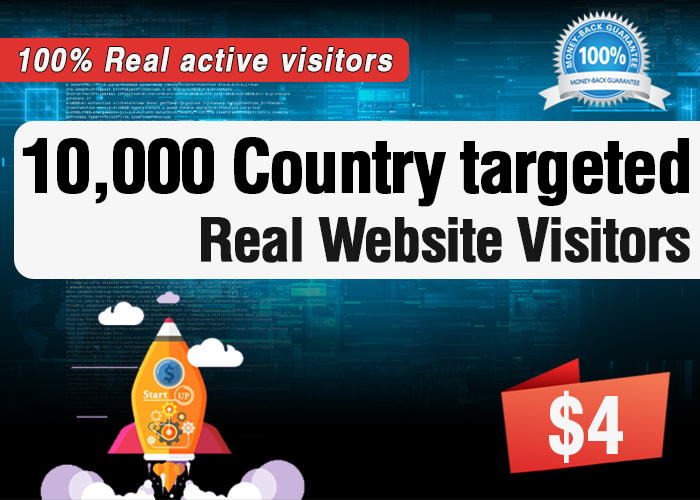 10,000 Targeted Real Human Visitors to your website