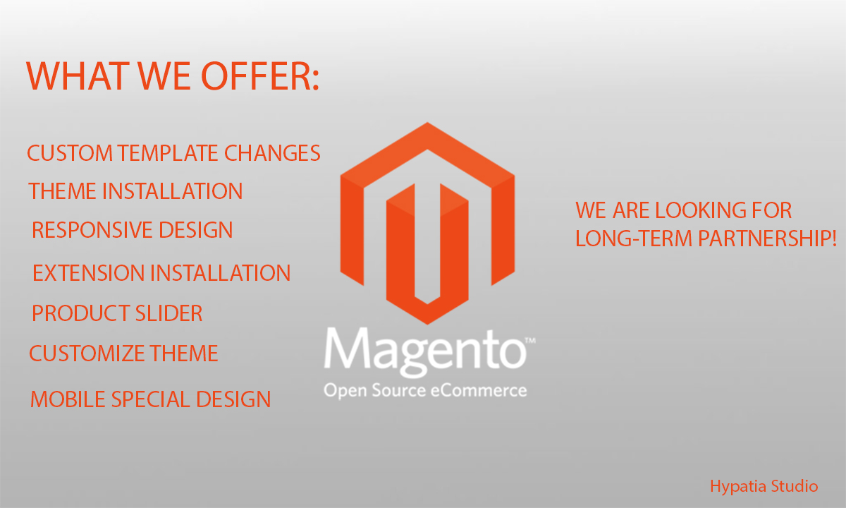 Install,  create and customize your Magento Website