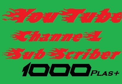 1000++You tube Sub scribers or 2500 You tube Li kes in 24 hours