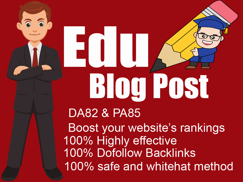 Guest post on Edu Blog with DoFollow Backlinks DA82,PA85 in 24H Delivery