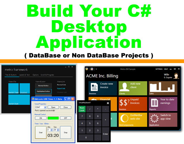 Build your c sharp windows desktop application windows 8 metro form interface