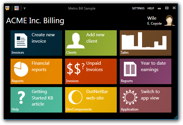 Build your c sharp windows desktop application windows 8 metro form interface