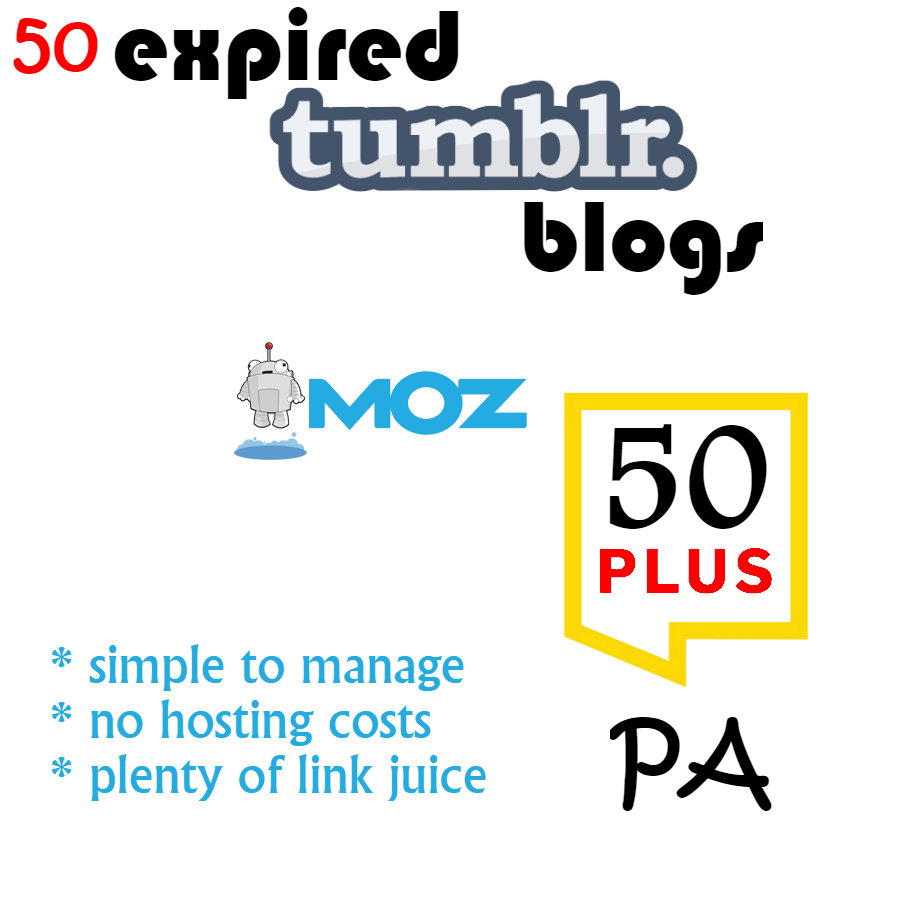 50 Tumblr Blogs with PA+50