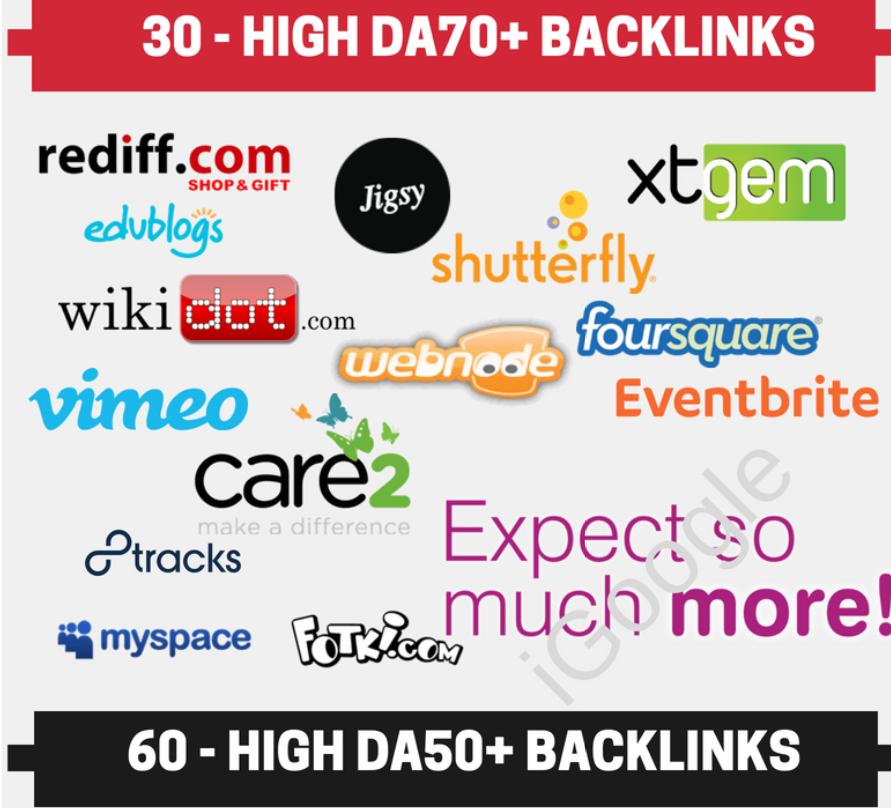 Perfect SEO Bundle -10 DA90+ 30 DA70+ and 60 DA50+ Backlinks Total 100