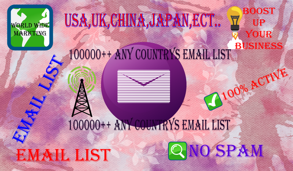 8000 china Email List Service