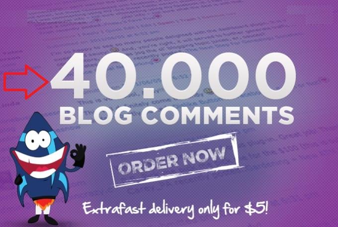 over 40,000 live SEO blog comment backlinks,  improve your iink building