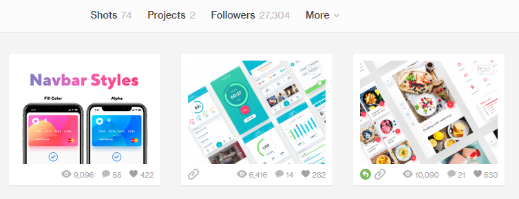 Add 500 Views and 35 Likes Dribbble