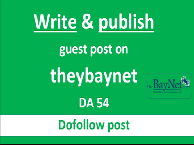 Write and publish guest post on thebaynet.com with dofollow links