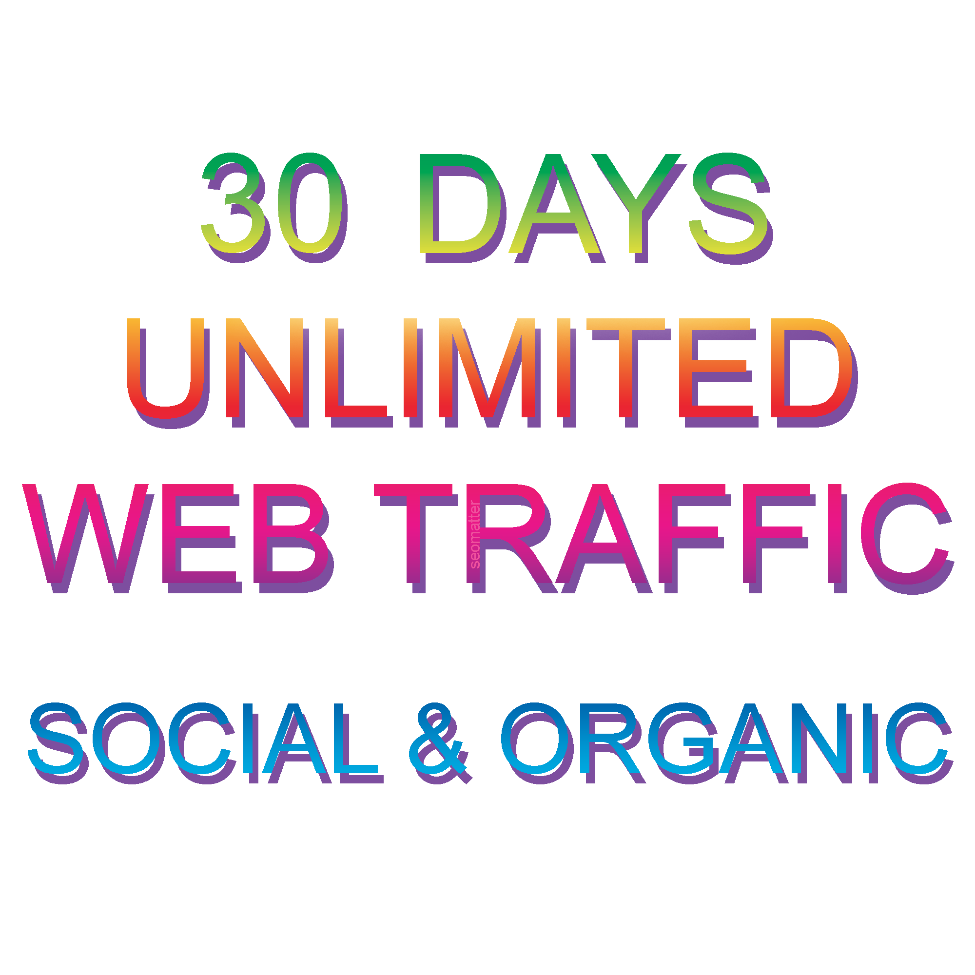 UNLIMITED targeted organic web traffic for 30 days