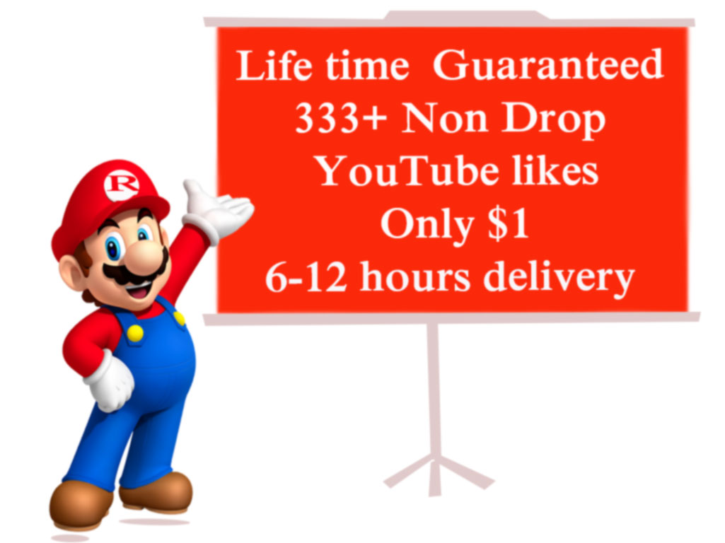 Limited offer 333+ HQ youtube Likes on your video and 12-24 hours delivery