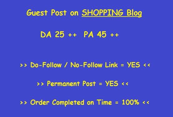 Guest Post on High-Quality Shopping Blog (writing + posting)
