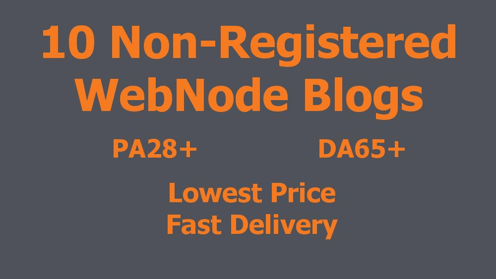 BEST PRICE - 10 Non-Registered Expired WebNode Blogs