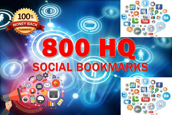 800 SEO Social Bookmarks High Quality Backlinks, Rss...