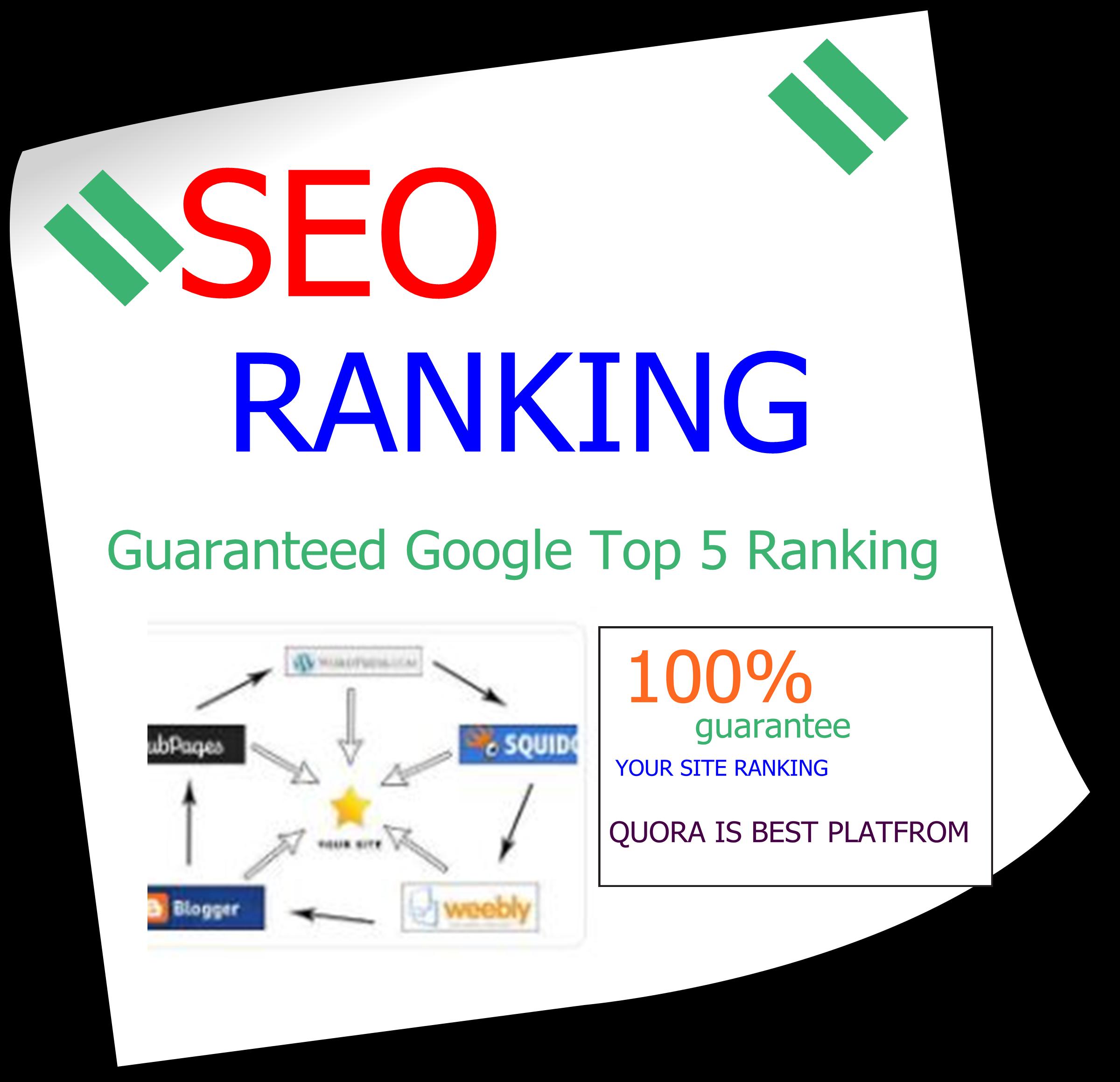 Guaranteed Google Top 5 Ranking