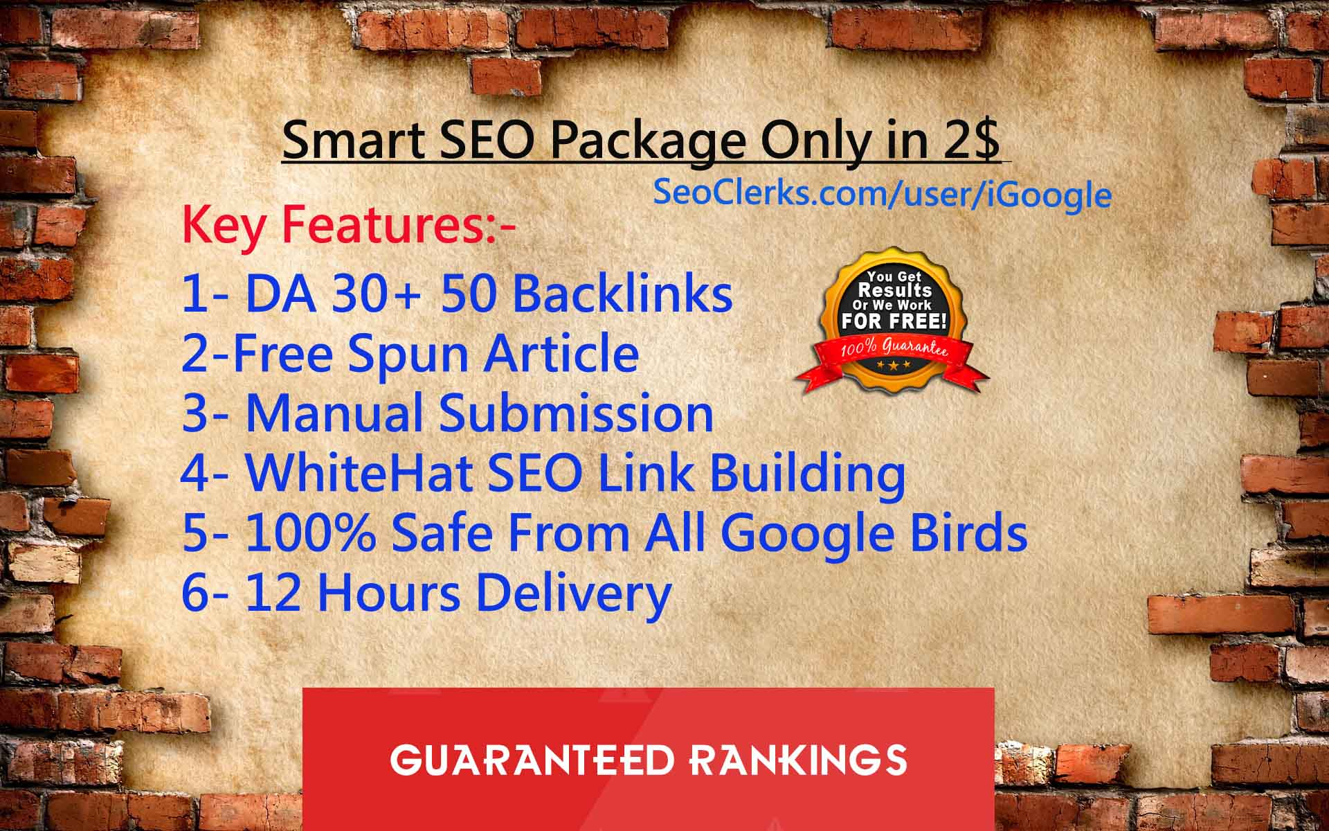 Get 50 DA30+ Backlinks Now - The Smart SEO Package EVER