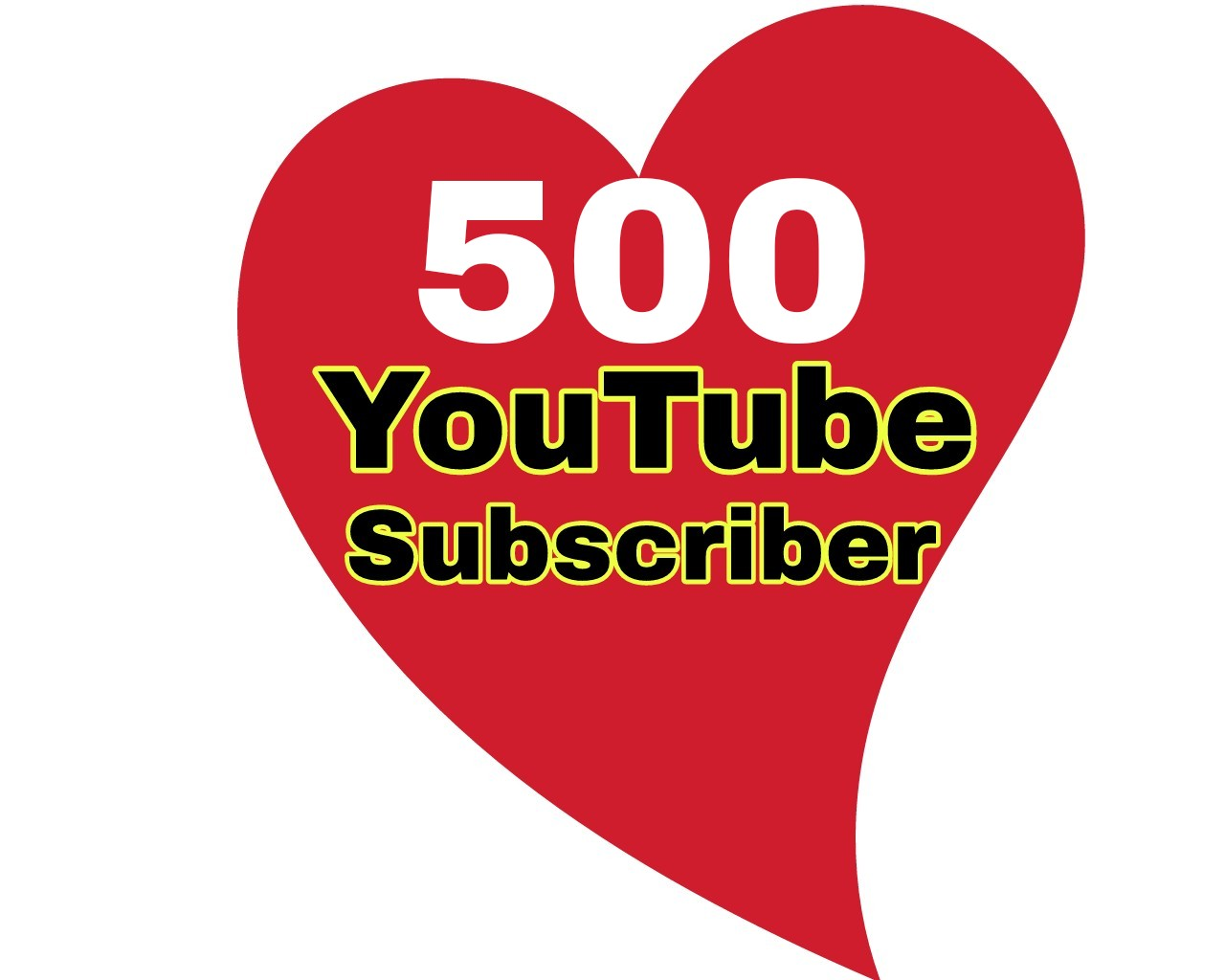 500 High quality Youtube subs cribers