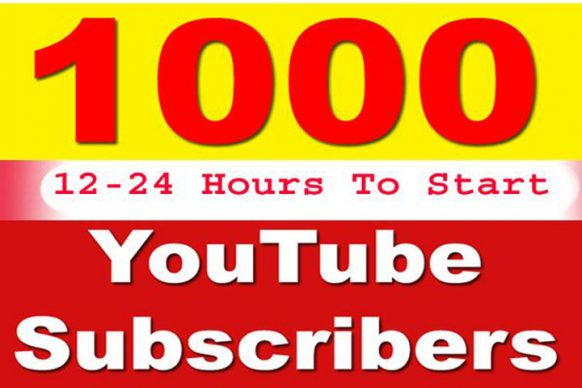1000 Genuine High Quality Youtube subscribers to your channel