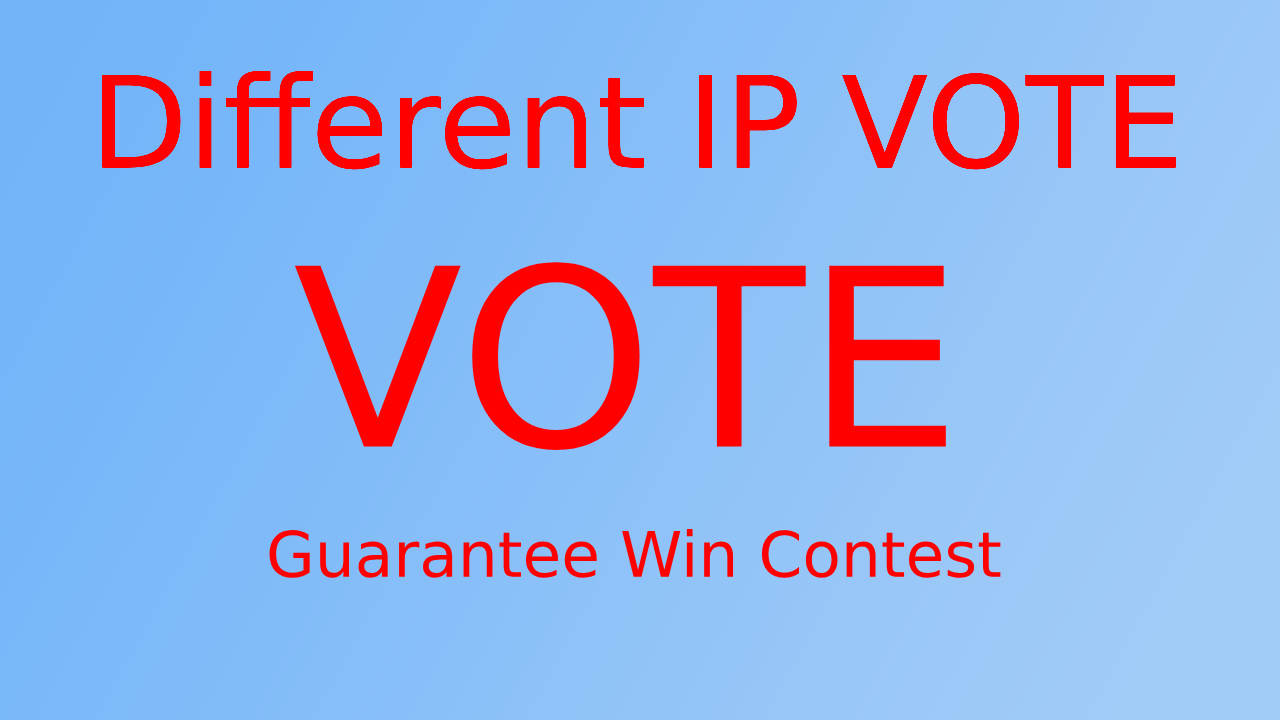 provide 100 online contest votes for any contest