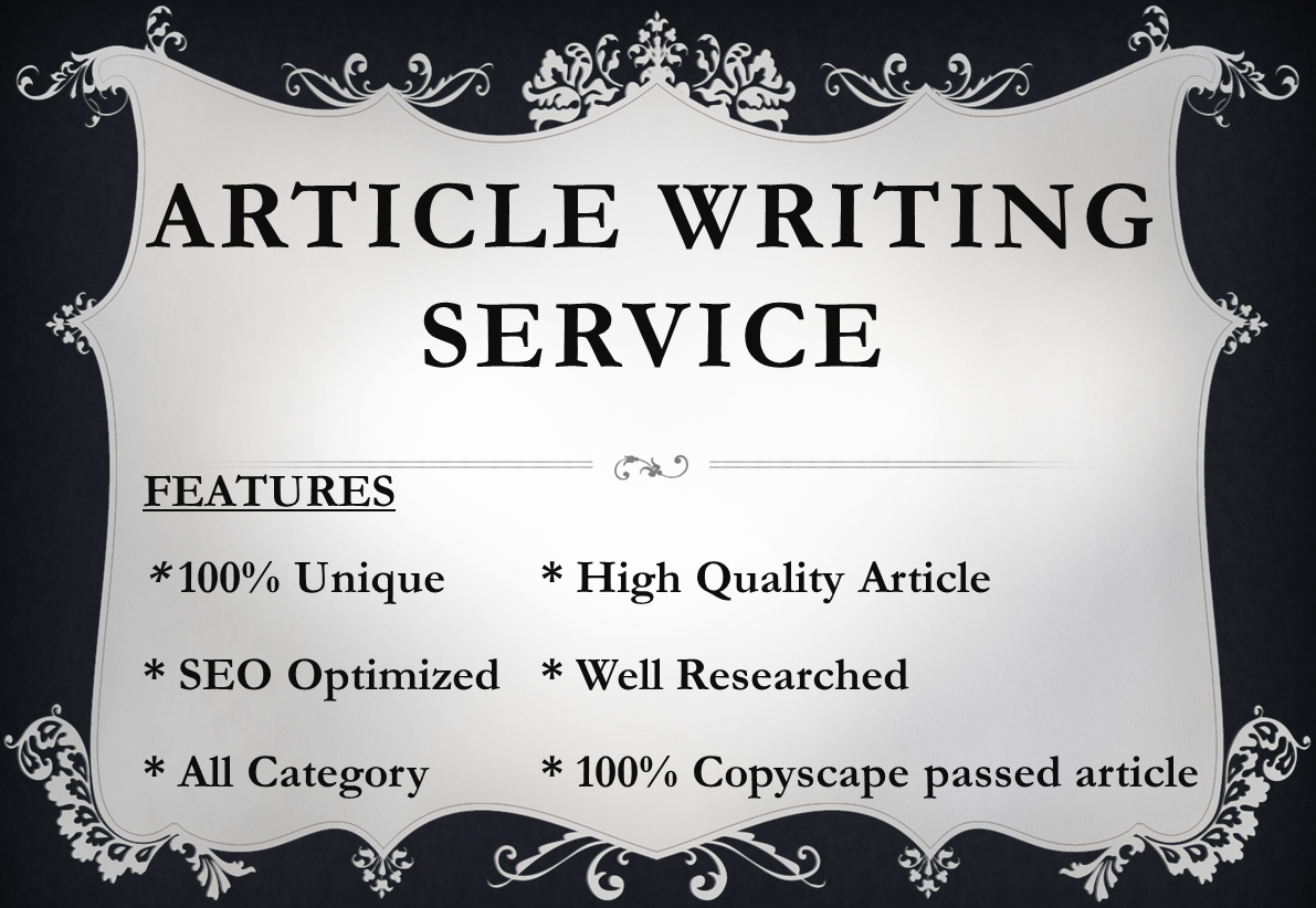 300+ Words Article Writing Services