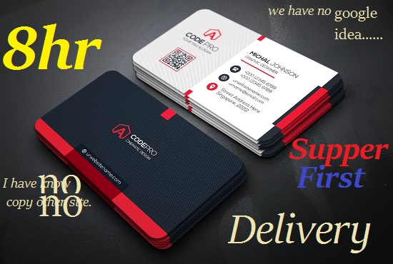 Design Clean 2 Business Card Within 24 Hrs