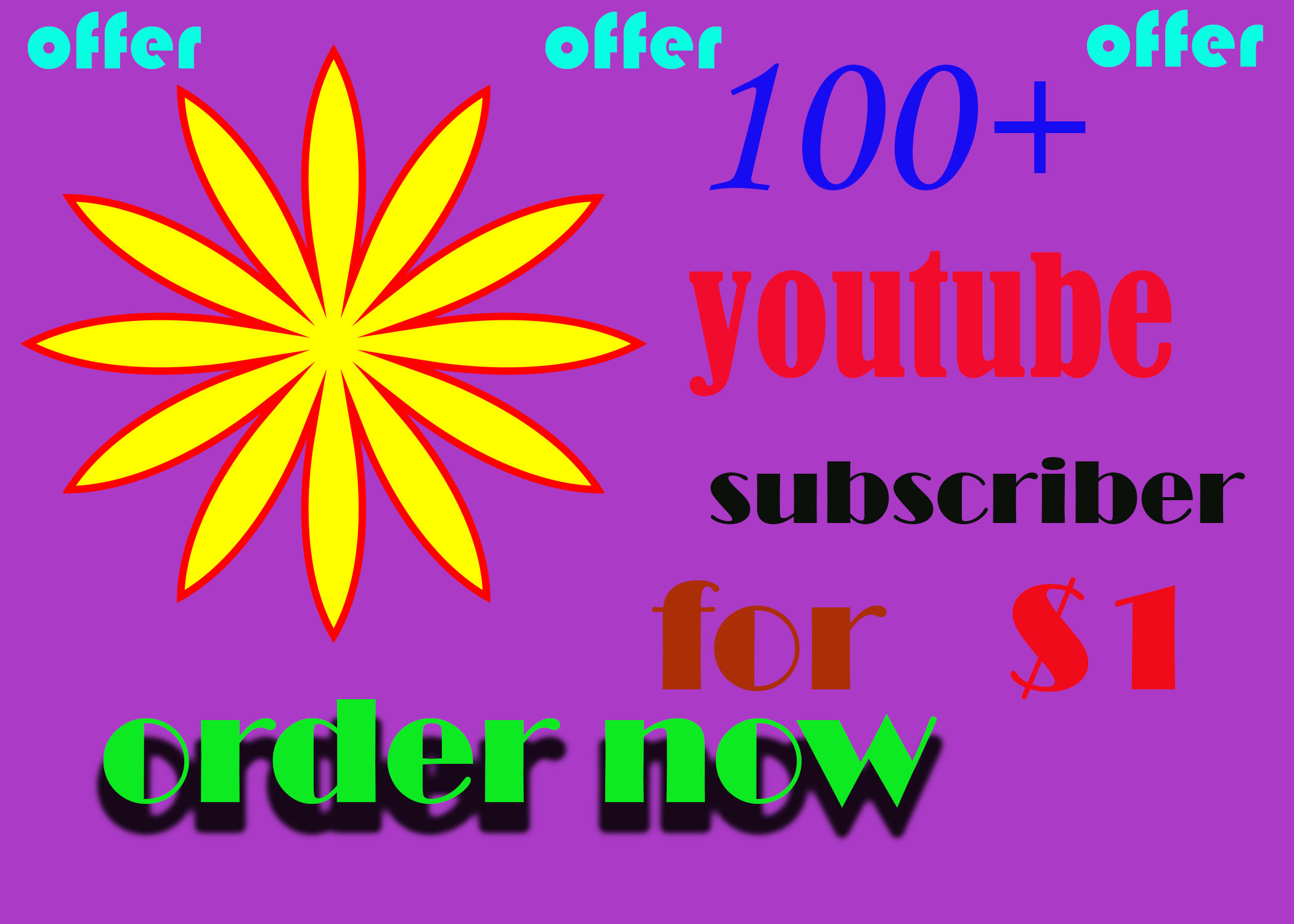 Exclusive offer 200+ subscriber on your channel completed within 1 day