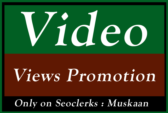 Organic Video Views Seo Promotion and Marketing