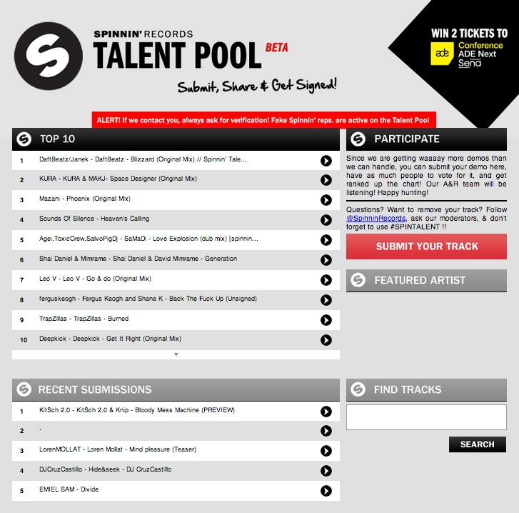 add 100 spinning records talent pool votes on your polls contest