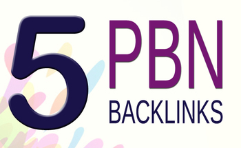 5 PBN High Quality contextual homepage blog posts