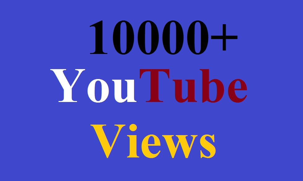 10000+ YouTube views and 100 Like Instant Delivery