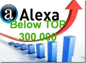 Improve Your Alexa Rank below TOP 300,000 in 1 week+