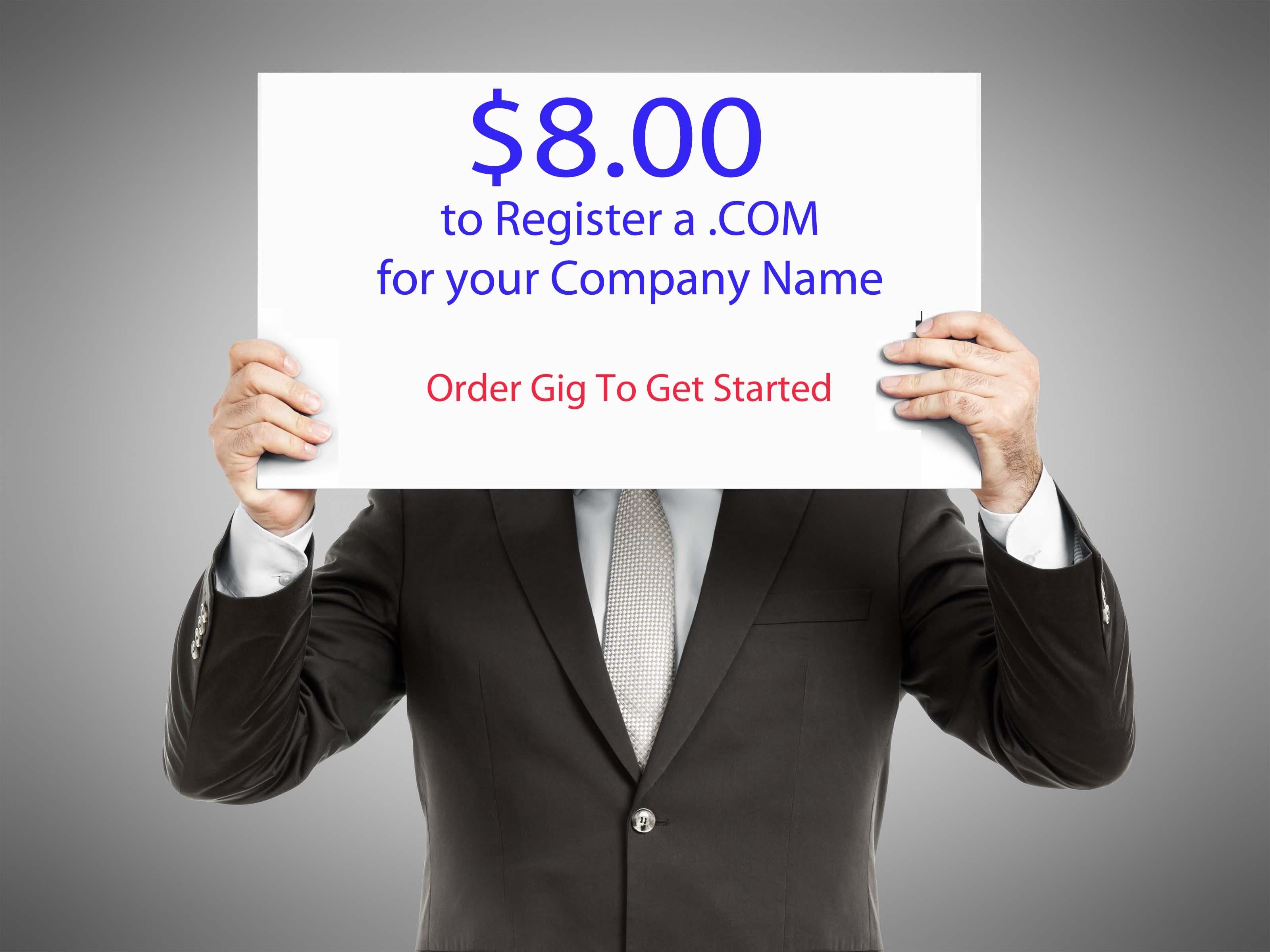 8.00. COM's - Register A. COM For Only