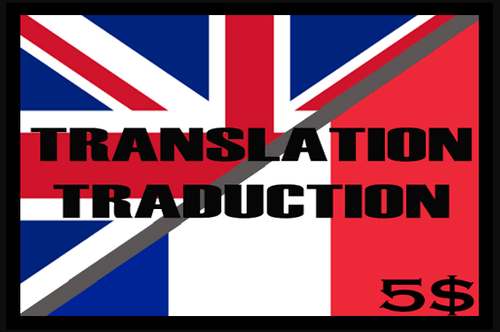 Translating your texts from French to English and vice versa
