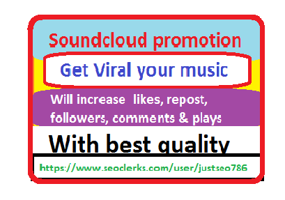 Soundcloud promotion 5k plays with 250 likes + 170 repost + 30 comments