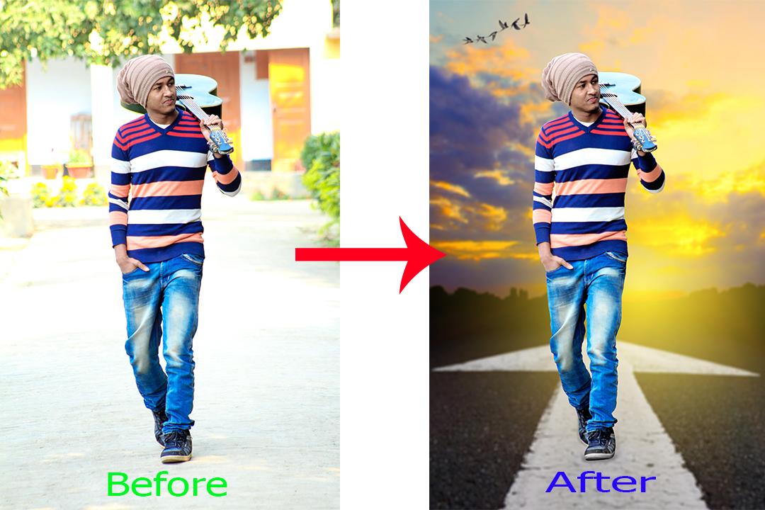 Stylish Movie Poster Photo Manipulation & Color Correction