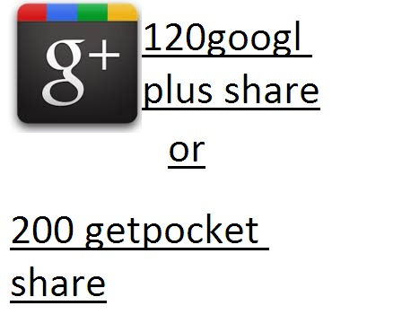 120 google share or 200 Getpocket shares high quality and fast service