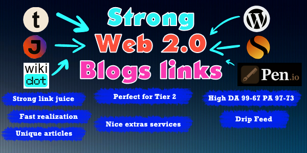 20 Web 2.0 Blog ! 10 Quality Profiles ! 5 business