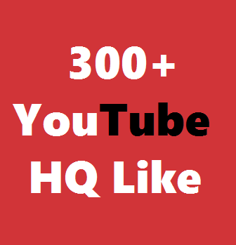 300+ Real YouTube High Quality  Video Likes  Very Fast Non-Drop  Just 1-4 Hours