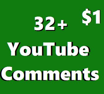Guaranteed 32+ Youtube Custom Comments  Super Fast Non-Drop 2-3 Hours
