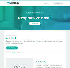 DESIGN A RESPONSIVE HTML EMAIL TEMPLATE