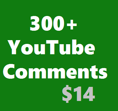 Add Guaranteed 300+ YouTube Custom Comments Active  Non Drop Instant Start Manually Given & Safe