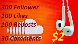 Instant 200 Soundcloude Followers With 100+ Likes, 100+ Reposts & 30+ Custom Comments Just