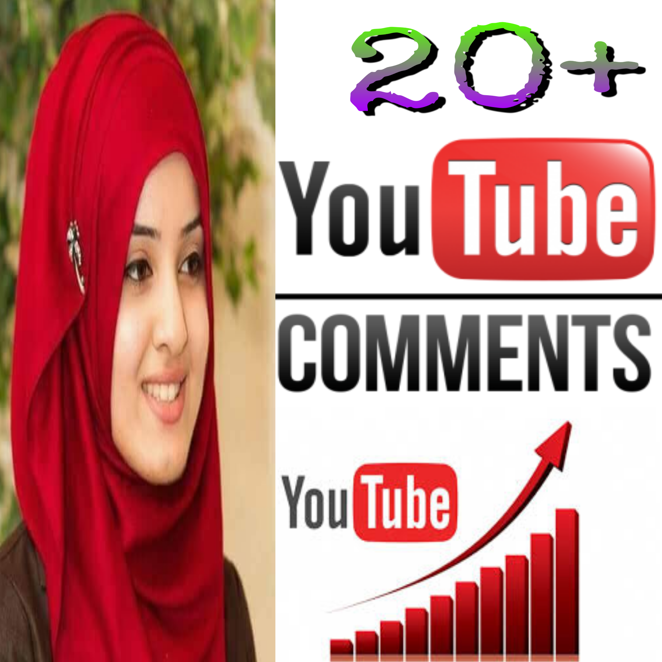 Stable 20+ Non-Drop Y T Custom Comment Different YouTube Account must be profile picture