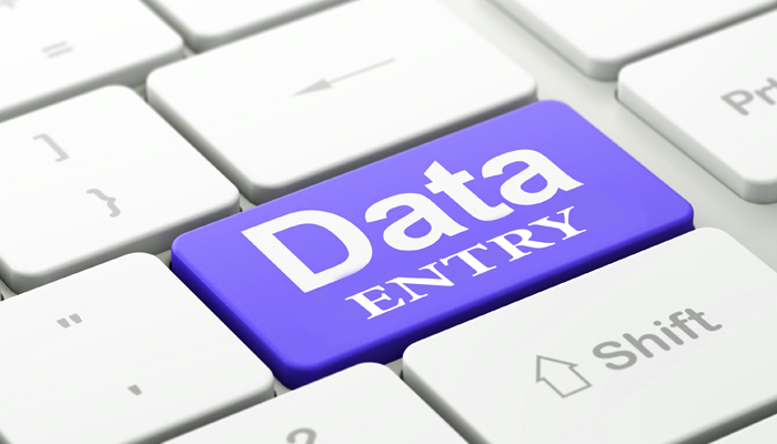 Data Entry for a low cost