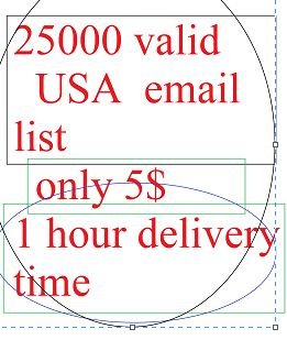 25000 USA business email list