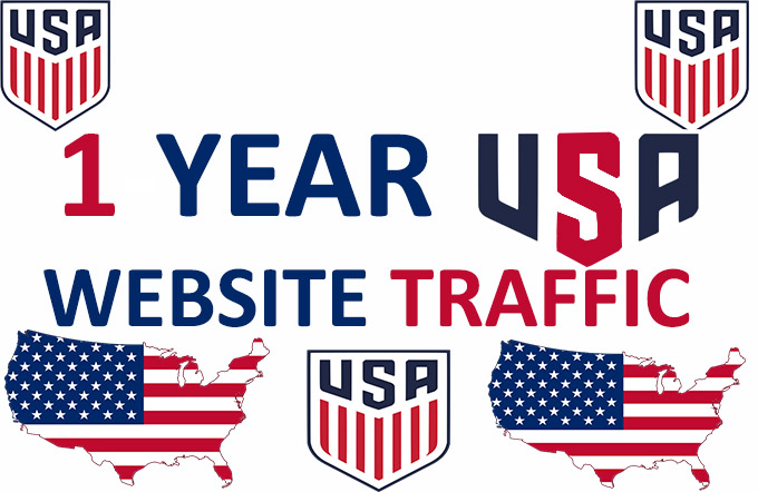 1 Year USA Website Traffic -HQ Real
