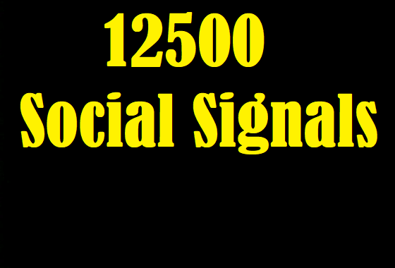 Acquire 12500 Exclusive Social Signals