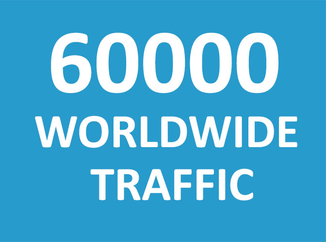 60,000 Web traffic Worldwide in 5 Days