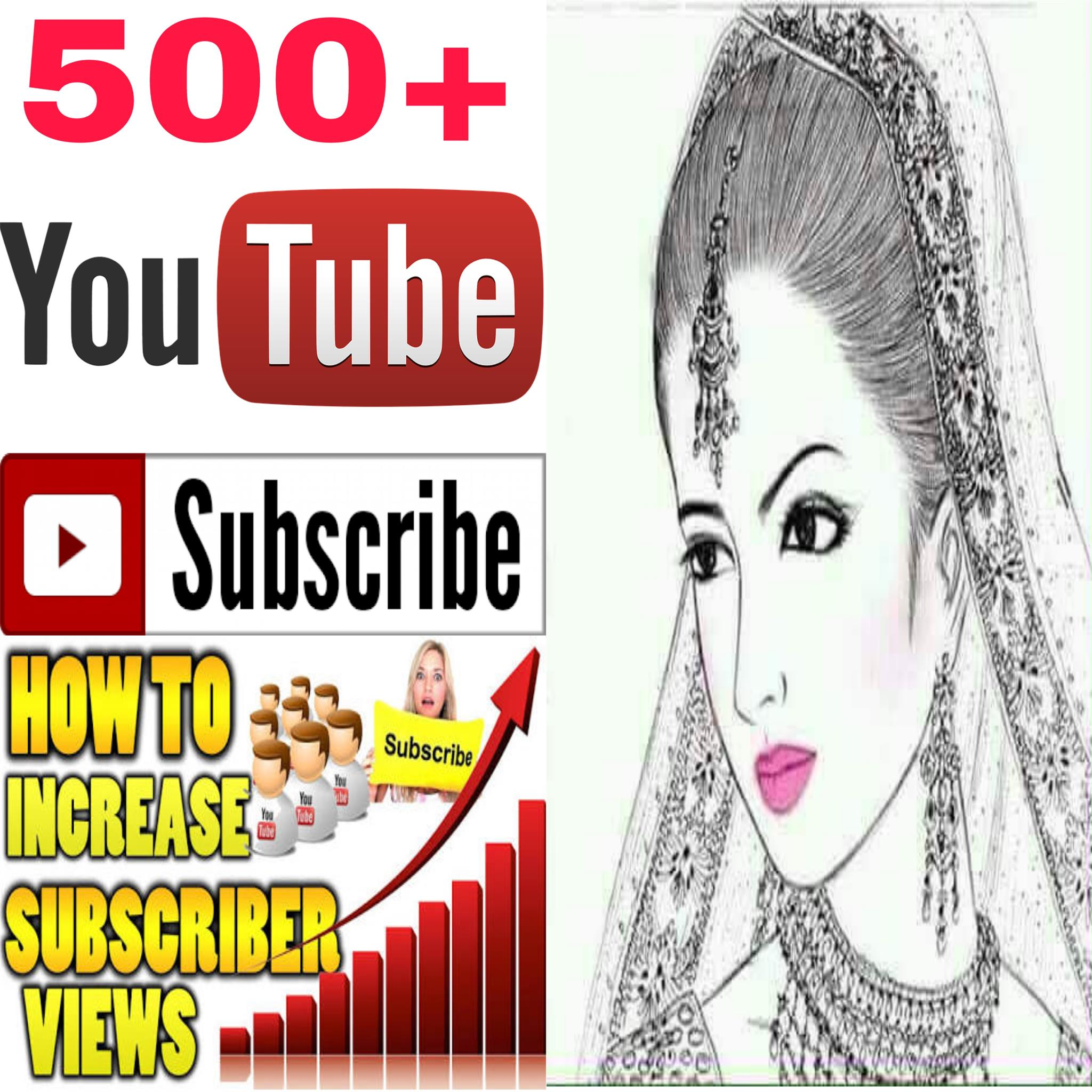 INSTANT provide manually  500+ must be NON-DROP guaranteed  channel SUBSCRIBERS Human work  very fast delivery within 2-9 hours