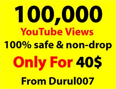 Get 50K non-drop You. Tube Views within 2-4 Days